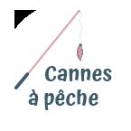 Bouton cannes à pêche pour chats