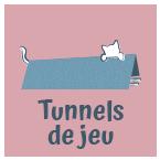 Bouton tunnels de jeu pour chat